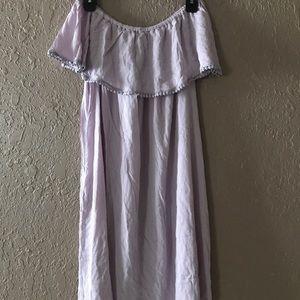 Lavender Off Shoulder Dress